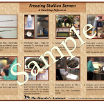 Freezing Stallion Semen Laminated Reference Sheets